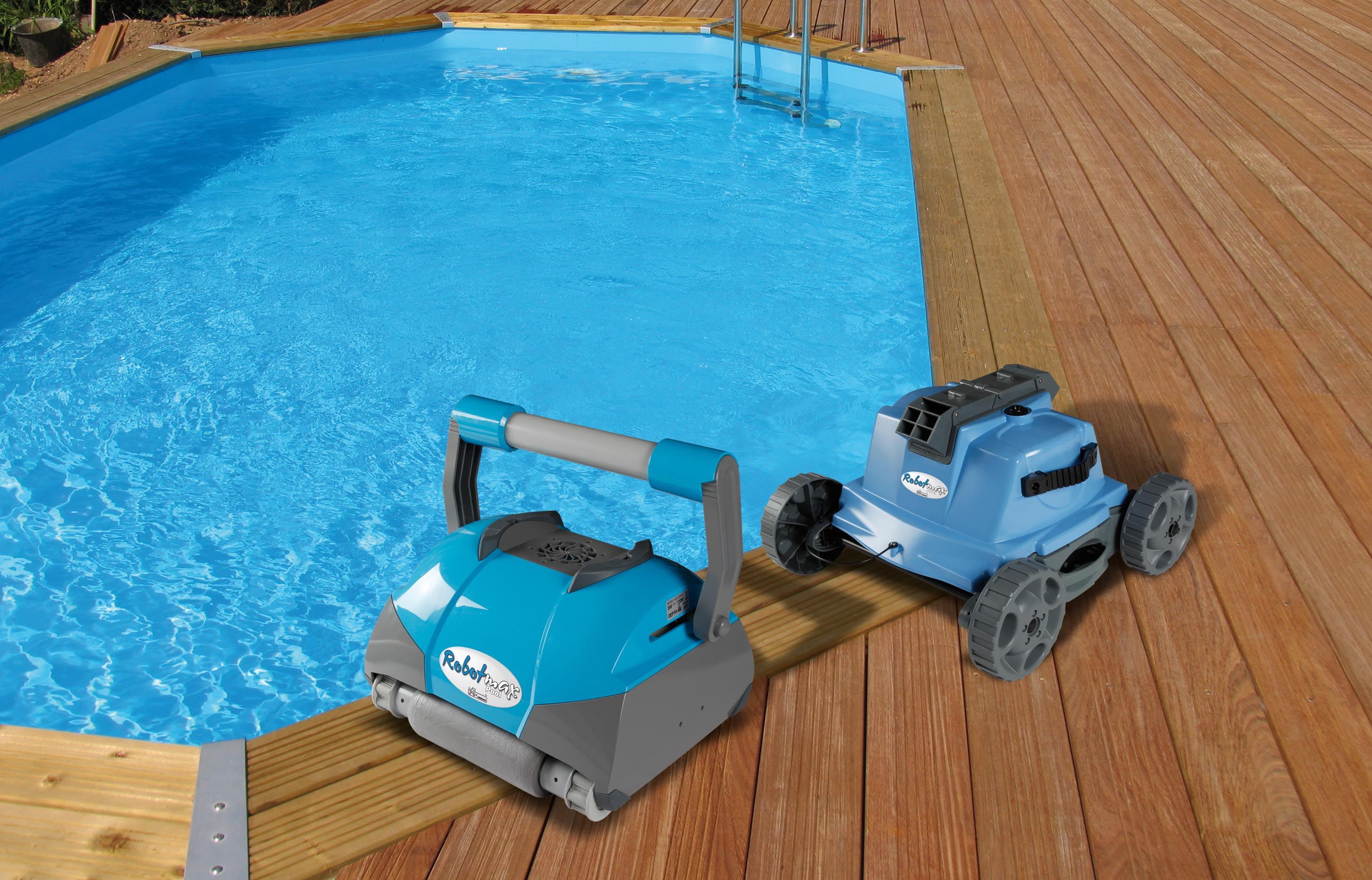 Kit piscine bois hors sol rectangulaire luxe 420 x 320 x for Robot piscine bois