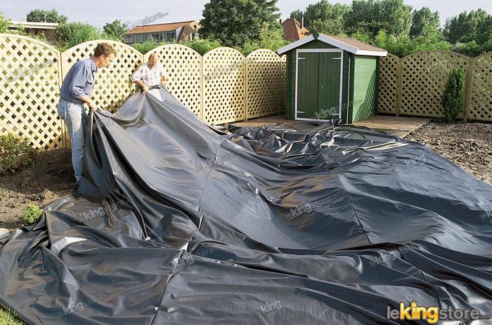 Aqualiner pvc 6x4 m pour bassin de jardin a petit prix sur for Prix bache pvc pour bassin