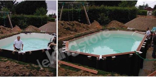 piscine bois nortland ubbink ocea allongee en kit 860x470x130 cm lekingstore. Black Bedroom Furniture Sets. Home Design Ideas