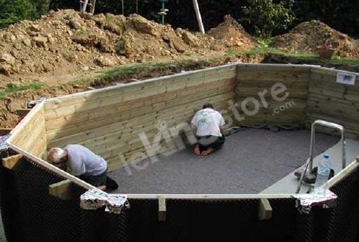 Nortland piscine bois un kit piscine nortland hexagonale for Montage piscine