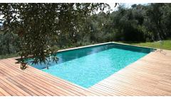Piscine Bois Hors Sol Rectangulaire REBECCA 920x420x145 cm