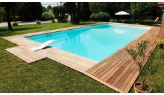 Kit Piscine Bois Hors Sol Rectangulaire REINE 820x420x145 cm