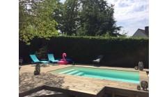 Piscine Bois Luxe Rectangulaire avec escalier Droit 520x320x131cm