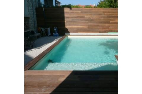 Piscine Bois Luxe Rectangulaire Avec Plage Immergee Escalier 620x420x130cm