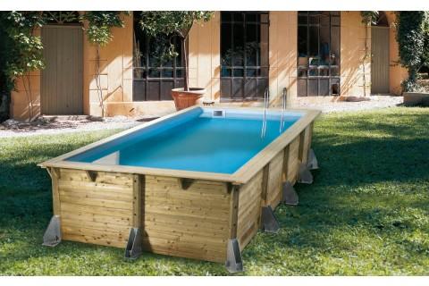 piscine bois nortland ubbink azura 505 cm x 350 cm x 126 cm
