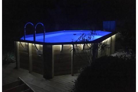 piscine bois tonga ubbink allongee en kit 610x400x120 cm