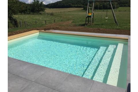 piscine bois rectangulaire avec escalier