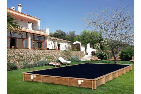 Kit Piscine Bois Hors Sol Rectangulaire 620 x 420 x 130 cm ...
