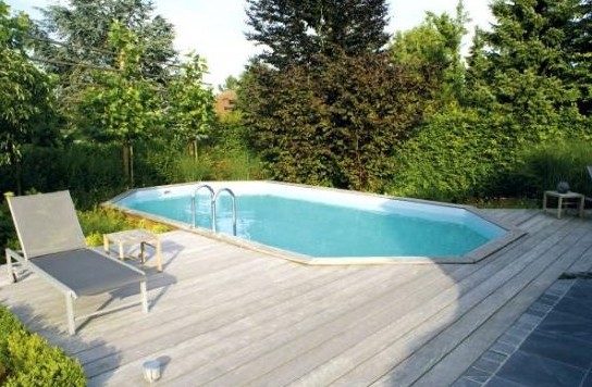Piscine Bois Sunwater 490 X 300 X 120 Cm Liner Beige Au Meilleur