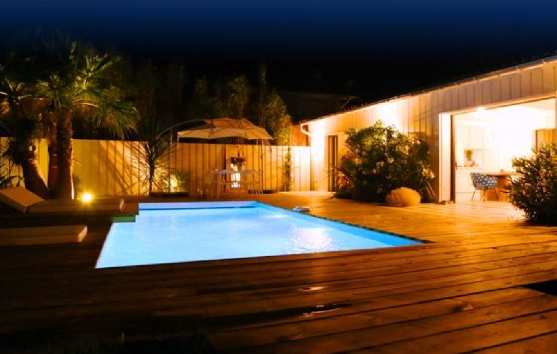 Piscine En Palette De Bois piscine bois rectangulaire lenny avec escalier droit 720x400x145 cm