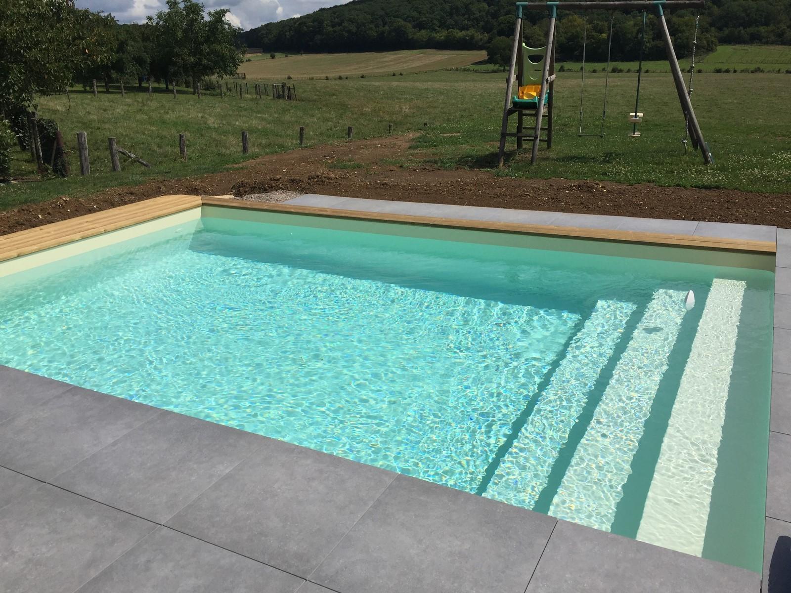 Piscine Hors Sol Avec Toboggan kit piscine bois hors sol rectangulaire luxe avec escalier droit  620x420x130 cm