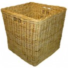 Grand Cache Pot Carrée En Rotin Naturel - LEKINGSTORE