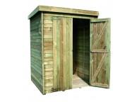 Abri de jardin bois THEOFIL 1.05m² 156x136xh195 cm