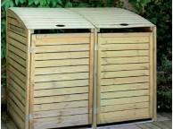 Coffre de filtration coffre de filtration piscine bois - Fabriquer cache poubelle bois ...