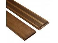 Lames de Terrasse ARUBA Pin 22 mm 2.50 m x 120 mm Marron 20m² (Lames vendues seules)