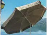 Parasol  VENEZIA Coton 200/8 cm Ecru et Taupe