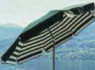 Parasol VENEZIA Coton 200/8 cm Vert et Blanc
