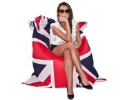Pouf Printed Union Jack by JumboBag LEKINGSTORE