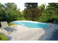 Piscine Bois SUNWATER 490 x 300 x 120 cm Liner Beige