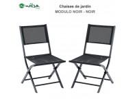 Chaise de jardin Modulo Noir