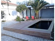 Kit Piscine Bois Hors Sol Rectangulaire Luxe 420x320x130 liner noir