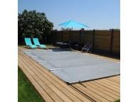 Bâche à barres pour piscine rectangulaire 650X350 cm