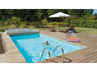 Kit Piscine Bois Hors SPARK Sol Rectangulaire Luxe 4.70X2.70X145 cm