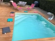 Kit Piscine Bois Rectangulaire avec escalier  Luxe 420 x 320 x 131 cm