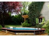 PISCINE WATER CLIP PREMIUM Allongée 580 x 420 x 129 cm