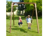Portique en bois AMBRE : 1 balançoire et 1 siège bébé L210xl207xH224cm