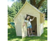 Maisonnette en bois brut déstructurée WANDA avec plancher et cheminée : Soulet