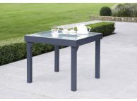 Table de Jardin 90/180 MODULO 4/8 GRISE