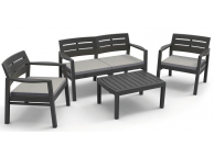 Ensemble de Jardin Anthracite Java 4/5 personnes