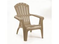 Lot de 4 fauteuils de Jardin ADIRONDACK TAUPE