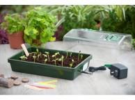 Mini serre chauffante pour semis et bouturage Nature 37.5 x 24 cm