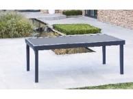 Table de Jardin 200/320 MODULO 8/12 NOIRE