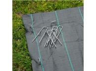 10 agrafes métalliques pour fixation au sol D3 mm H14 x 3 cm
