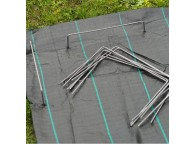 10 agrafes métalliques pour fixation au sol D4 mm H20 x 12 cm