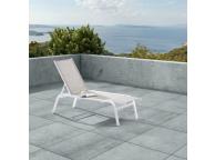 Bain de soleil en aluminium 180 x 66 x 92 cm