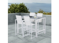 Ensemble Bar de jardin SET STAR avec table + 4 fauteuils
