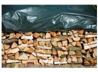 Bâche pour tas de bois tissé, oillet, verte, 90 gr/m2 3 x 4 m