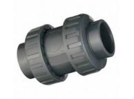 Clapet anti-retour union PVC à coller diamètre 50
