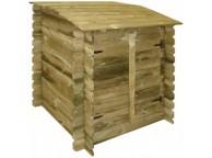 Coffre pour Filtration Piscine Bois UBBINK H 115cm - Lekingstore