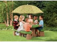 Table de Pique-Nique avec Parasol Enfants - LEKINGSTORE