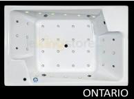 Baignoire Balnéo Ontario 190 x 125 cm 2 places