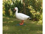 Oie Blanche pour Décoration de Jardin de Bassin - LeKingStore
