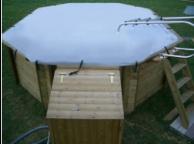 Bâche à barres pour piscine ronde octogonale Ø 360 cm