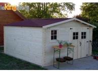 Abri de jardin en Bois 14.47 m² BALTA  28 mm L 400 x P 400 cm - LEKINGSTORE