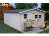 Abri de jardin en Bois 18.27 m² BALTA 28 mm L 400 x P 500 cm - LEKINGSTORE