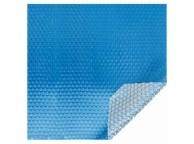 Bâche à bulles 180μ bleu pour piscine octogonale allongée 550x350cm